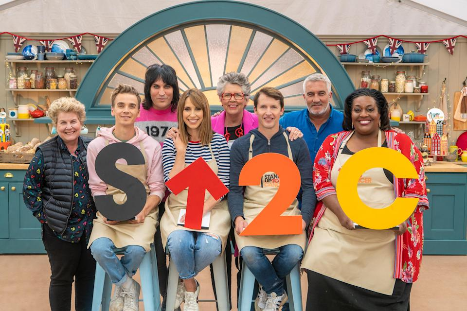 Joe Sugg, Alex Jones, James Blunt and Alison Hammond were the latest celebrity contestants on 'The Great Stand Up To Cancer Bake Off'. (Mark Bourdillon/Channel 4)