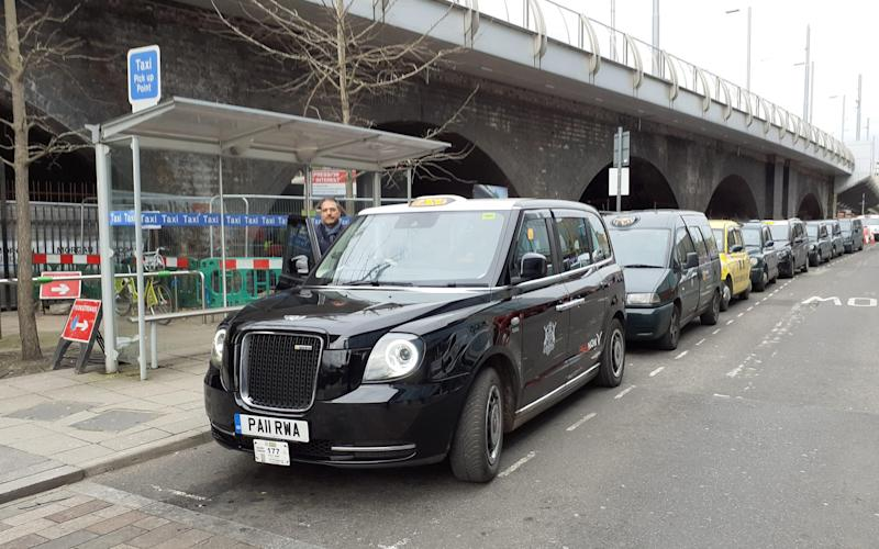 One of the taxi ranks were the wireless technology will be installed - Nottingham City Council