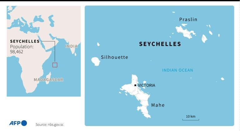 Map of the Seychelles