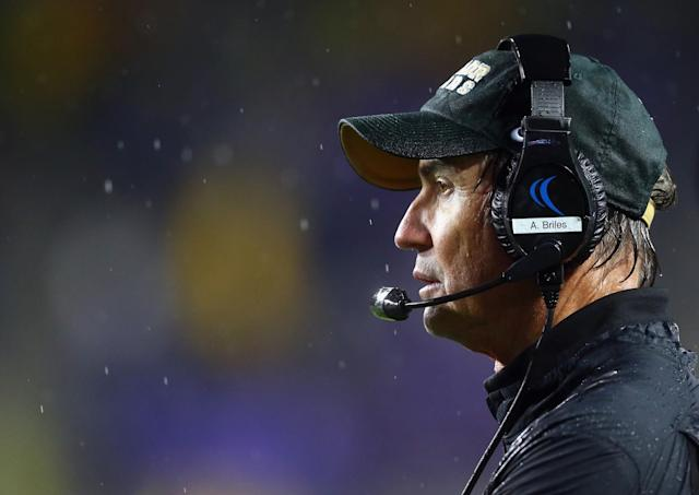 Former Baylor coach Art Briles is fighting back. (Photo by Ronald Martinez/Getty Images)