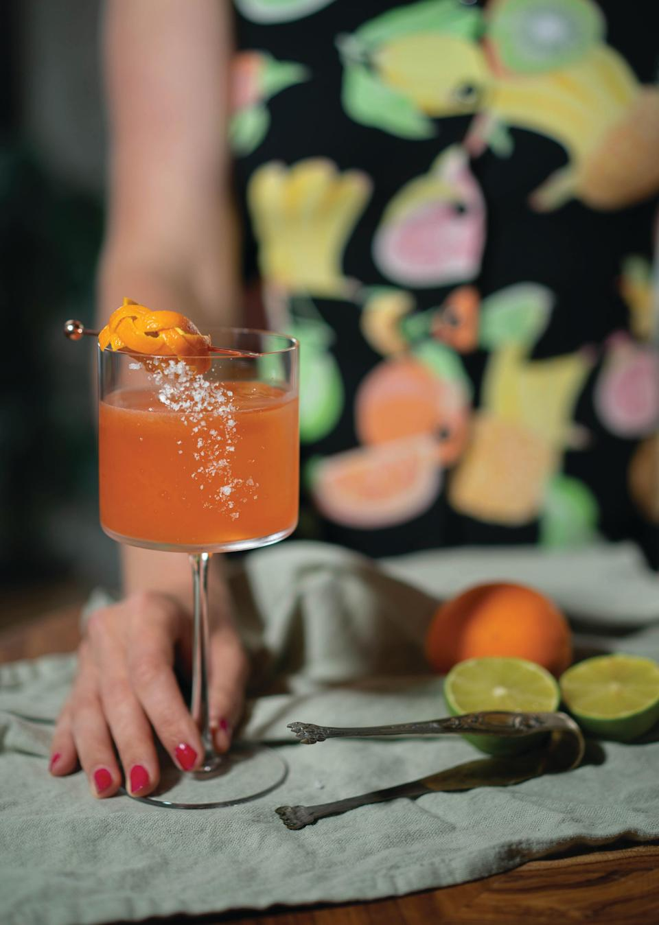 "Let's introduce your basic <a href=""https://www.epicurious.com/recipes/food/views/the-classic-margarita-238570?mbid=synd_yahoo_rss"" rel=""nofollow noopener"" target=""_blank"" data-ylk=""slk:margarita"" class=""link rapid-noclick-resp"">margarita</a> to our friend Aperol. We think they'll get along great. <a href=""https://www.epicurious.com/recipes/food/views/margarita-in-venezia-tequila-aperol-cocktail-beautiful-booze?mbid=synd_yahoo_rss"" rel=""nofollow noopener"" target=""_blank"" data-ylk=""slk:See recipe."" class=""link rapid-noclick-resp"">See recipe.</a>"