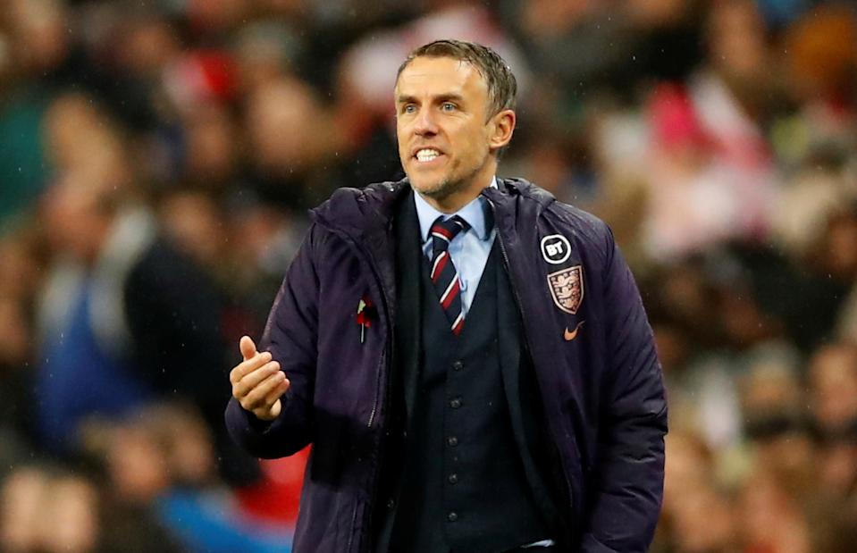England manager Phil Neville remains under pressure after his side have only won two of their last eight