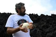 David Garcia, 34, was an accountant before he set up his volcanic pizza kitchen in 2013