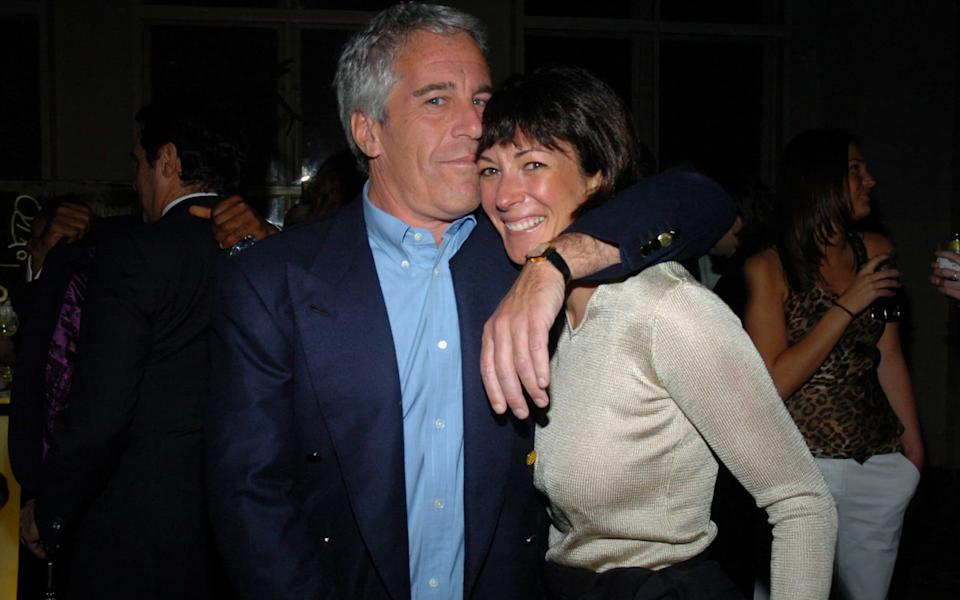 Jeffrey Epstein and Ghislaine Maxwell photographed together in 2005 - Patrick McMullan