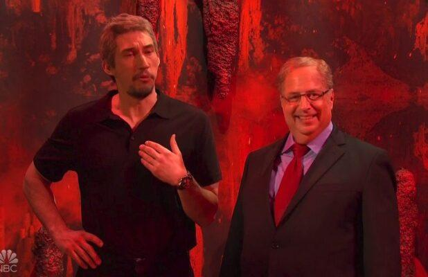 'SNL': Jon Lovitz as Alan Dershowitz Joins Adam Driver's Jeffrey Epstein on Satan's Podcast