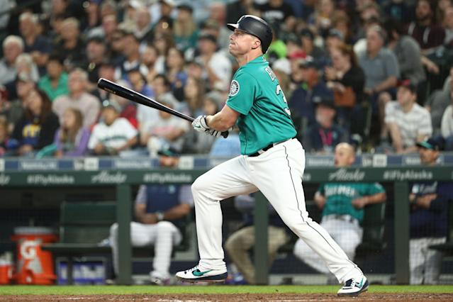 Jay Bruce appears likely to join his fifth team in four years soon. (Abbie Parr/Getty Images)