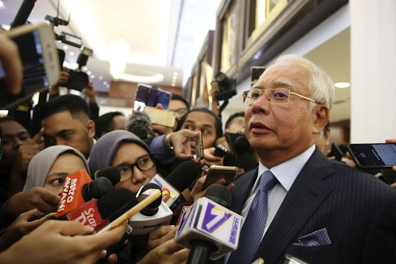 Najib said that he saw Low as a potential link to the Saudi government and the Middle East, and nothing more. — Picture by Yusof Mat Isa