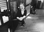 <p>Exercising more is always the number one resolution made at the beginning of a new year (and subsequently dropped just a few weeks later). Adele, like a majority of the population, knows that the struggle is real. The singer posted a photo to Instagram showing her working hard, lifting weights in a black athleisure look, but looking none too happy. Remember this Adele: New year, new you! <i>Photo: @adele/Instagram </i></p>