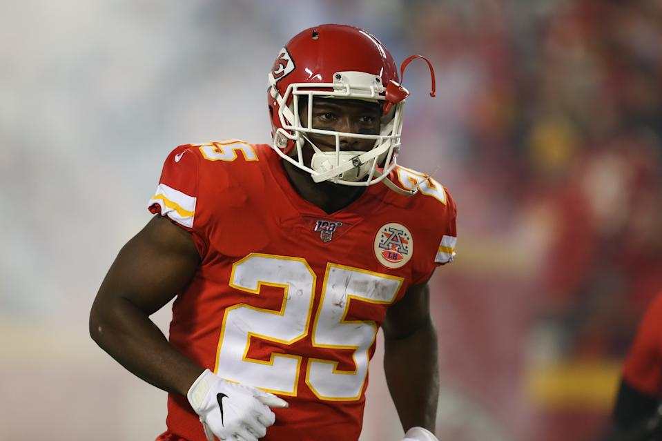 Kansas City Chiefs running back LeSean McCoy (25) is in his first Super Bowl. (Photo by Scott Winters/Icon Sportswire via Getty Images)