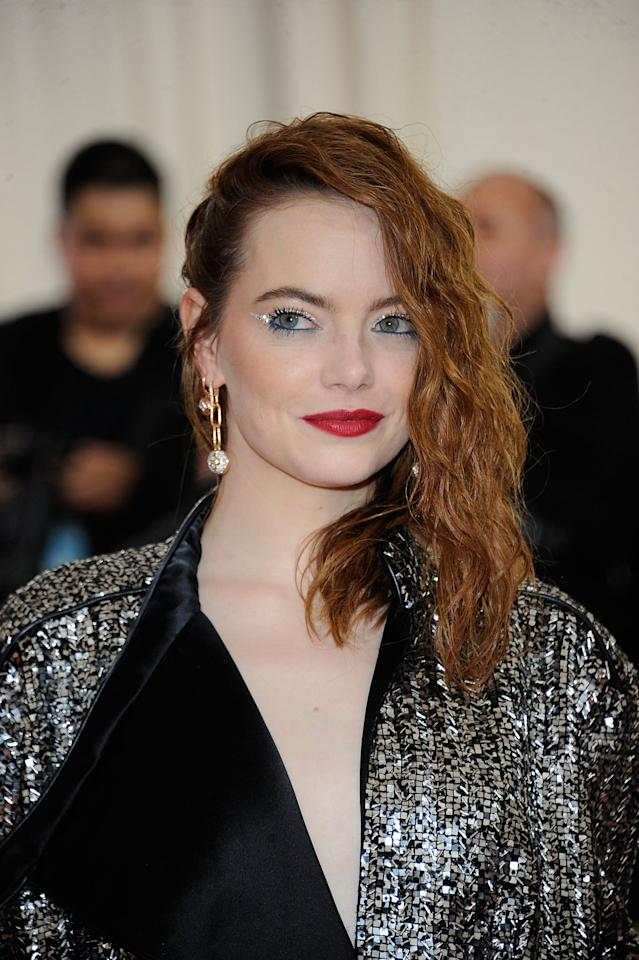 """<p><a class=""""sugar-inline-link ga-track"""" title=""""Latest photos and news for Emma Stone"""" href=""""https://www.popsugar.com/Emma-Stone"""" target=""""_blank"""" data-ga-category=""""Related"""" data-ga-label=""""https://www.popsugar.com/Emma-Stone"""" data-ga-action=""""&lt;-related-&gt; Links"""">Emma Stone</a> wore this deep red shade to the 2019 Met Gala.</p>"""