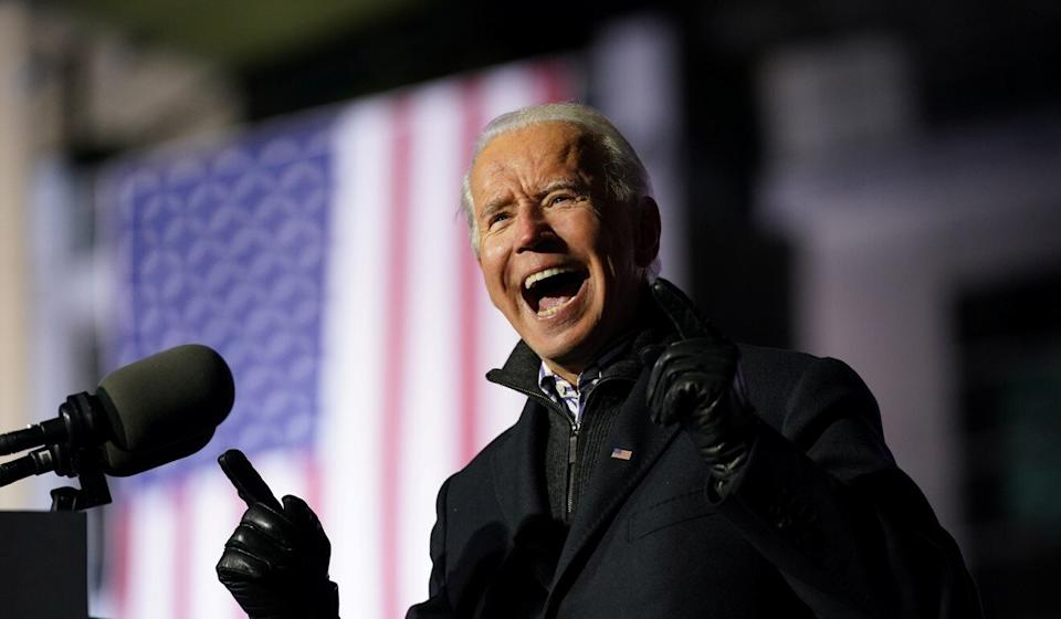 Joe Biden appears to be edging closer to victory. Photo: Reuters