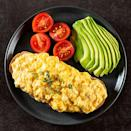 """<p>Eggs are <a href=""""https://ods.od.nih.gov/factsheets/Riboflavin-HealthProfessional/"""" rel=""""nofollow noopener"""" target=""""_blank"""" data-ylk=""""slk:high in riboflavin"""" class=""""link rapid-noclick-resp"""">high in riboflavin</a>, but that's not the only reason you might want to eat them in the midst of a migraine. """"We know that patients with a migraine brain, sometimes that brain is hyper-irritable to a change in schedule and a patient may not eat regularly during a migraine attack,"""" says <a href=""""https://www.diamondheadache.com/staff/dr-merle-diamond/"""" rel=""""nofollow noopener"""" target=""""_blank"""" data-ylk=""""slk:Meryle Diamond, M.D."""" class=""""link rapid-noclick-resp"""">Meryle Diamond, M.D.</a>, the managing director at the <a href=""""https://www.diamondheadache.com/"""" rel=""""nofollow noopener"""" target=""""_blank"""" data-ylk=""""slk:Diamond Headache Clinic"""" class=""""link rapid-noclick-resp"""">Diamond Headache Clinic</a> in Chicago. """"So we try to encourage our patients, even if they can't eat a lot because of nausea, to make sure they get something in."""" She says hard-boiled or scrambled eggs provide easily digestible <a href=""""https://fdc.nal.usda.gov/fdc-app.html#/food-details/748967/nutrients"""" rel=""""nofollow noopener"""" target=""""_blank"""" data-ylk=""""slk:protein"""" class=""""link rapid-noclick-resp"""">protein</a>, which will help keep your blood glucose levels stable and your whole body functioning better, including your brain. """"It's important to feed your brain,"""" adds Dr. Diamond.</p><p><strong>RELATED:</strong><a href=""""https://www.goodhousekeeping.com/food-recipes/easy/g428/easy-egg-recipes/"""" rel=""""nofollow noopener"""" target=""""_blank"""" data-ylk=""""slk:60 Easy Egg Recipes"""" class=""""link rapid-noclick-resp""""> 60 Easy Egg Recipes</a> </p>"""