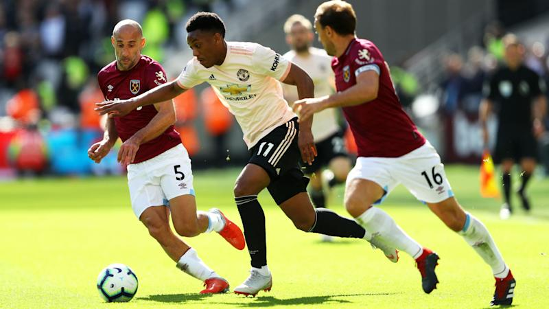 Mourinho unimpressed with Martial work rate