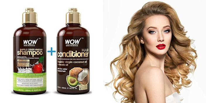 This apple cider vinegar shampoo and conditioner can make your hair really shine.
