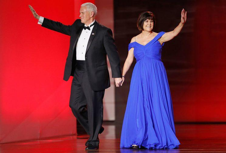 Did Karen Pence and Her Blue Dress Steal the Show at the ...
