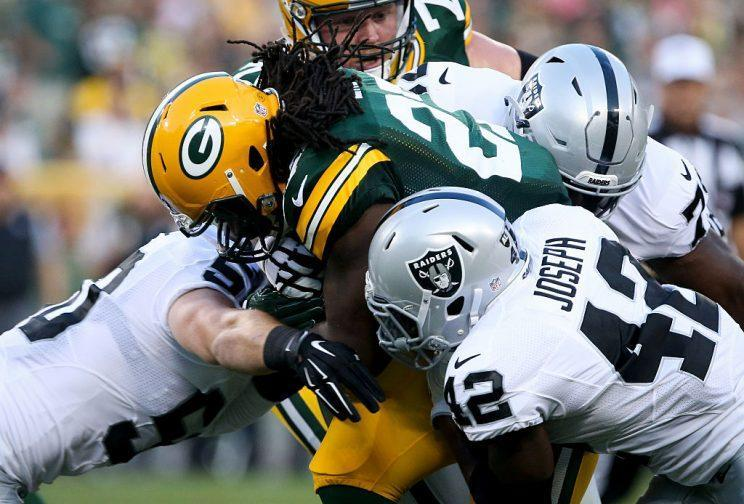Eddie Lacy was a notable fantasy bust in 2015, but looked good in preseason play. (Photo by Dylan Buell/Getty Images)