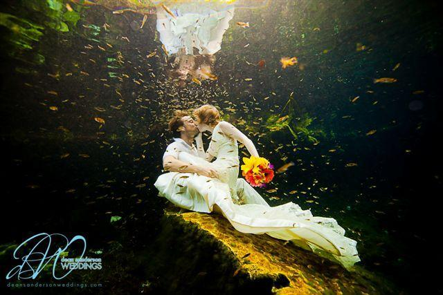 """<div class=""""caption-credit""""> Photo by: Dean Sanderson</div><div class=""""caption-title"""">1. In 23 Different Places</div>Think about all of the joy, energy and resources that went into planning your wedding. Now, <b><span>imagine going through that experience not once, but 23 times</span></b>. It sounds like a fantasy (or a nightmare, depending on who you ask), but this is actually one couple's reality."""