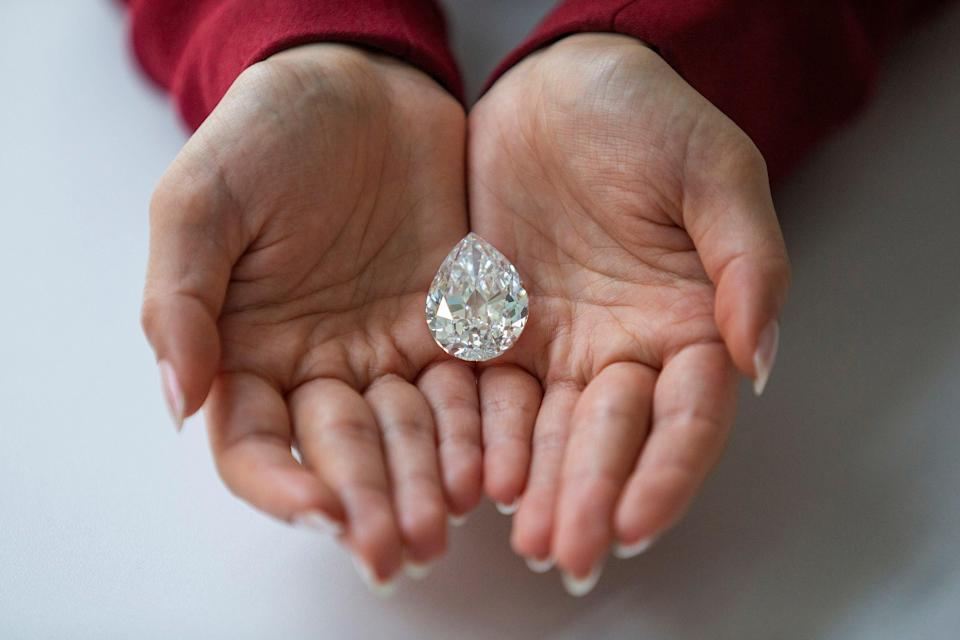 The diamond, dubbed The Key 10138, is among just 10 diamonds of more than 100 carats to come to auction (REUTERS)