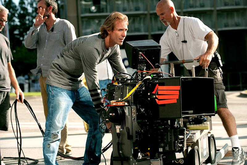 "Michael Bay on the set of ""Transformers: Dark of the Moon"""