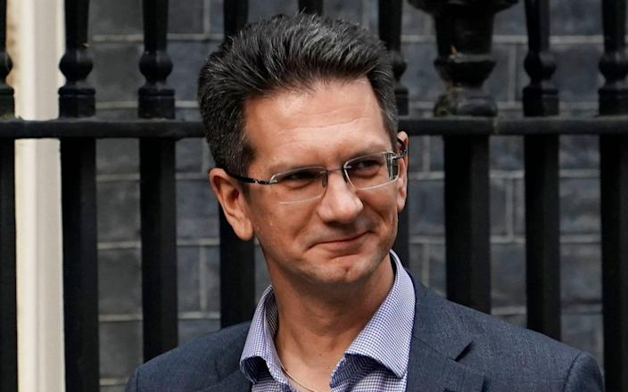 Mandatory Credit: Photo by WILL OLIVER/EPA-EFE/REX (10447436y) Steve Baker, Chairman of the European Research Group arrives for a meeting in Downing Street, Central London, Britain, 16 October 2019. The British government and European Union continue talks ahead of a EU summit scheduled for 17 and 18 October. Cabinet Meeting in London, United Kingdom - 16 Oct 2019 - WILL OLIVER/EPA-EFE/REX