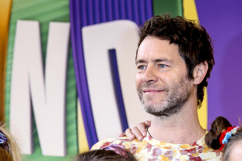 BERLIN, GERMANY - APRIL 01: Take That singer Howard Donald during the photocall 'The Band - Das Musical' with the main cast and members of the band Take That at Theater des Westens on April 1, 2019 in Berlin, Germany. (Photo by Isa Foltin/Getty Images)