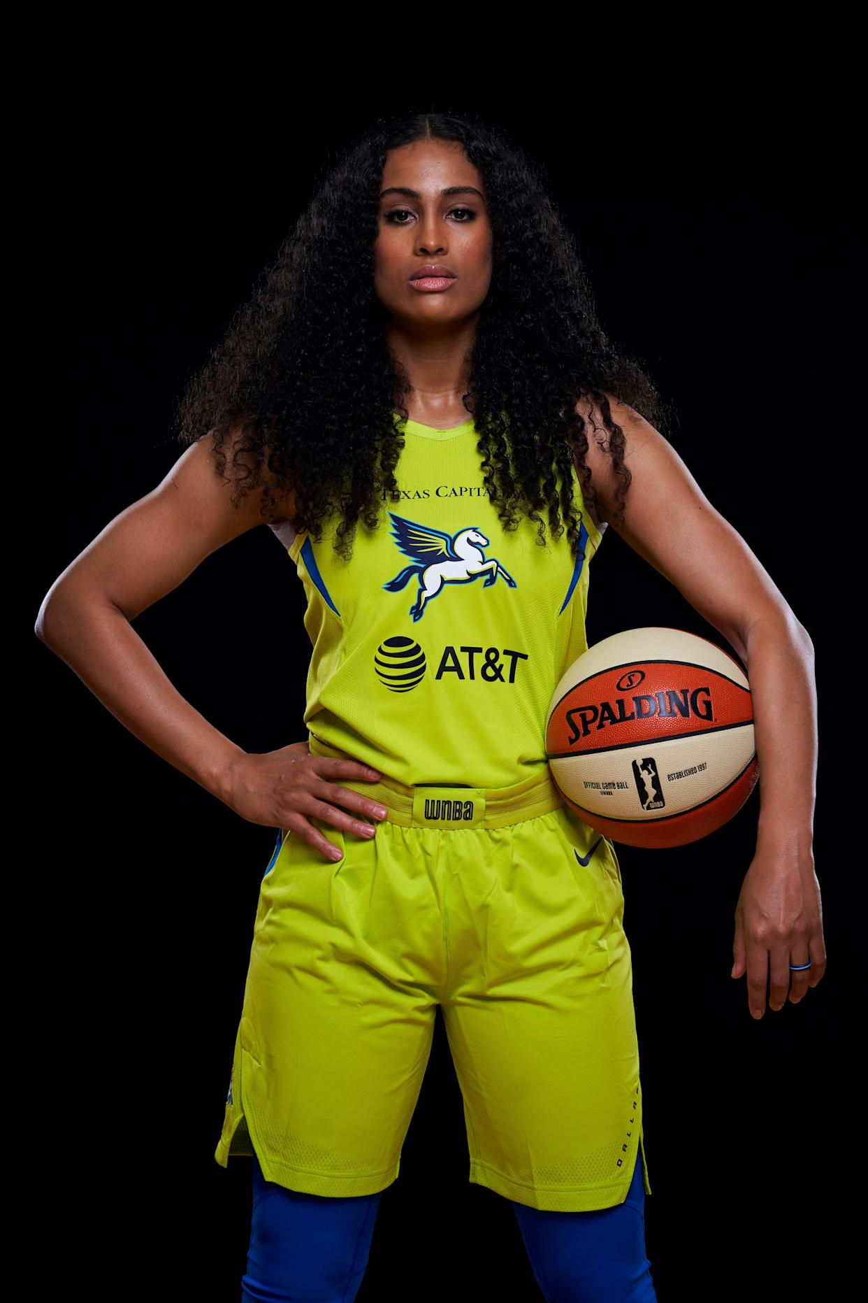 Skylar Diggins-Smith poses in May for a Dallas Wings player photo. She never played for the team this season after taking two months off for postpartum depression. (Photo: Cooper Neill via Getty Images)