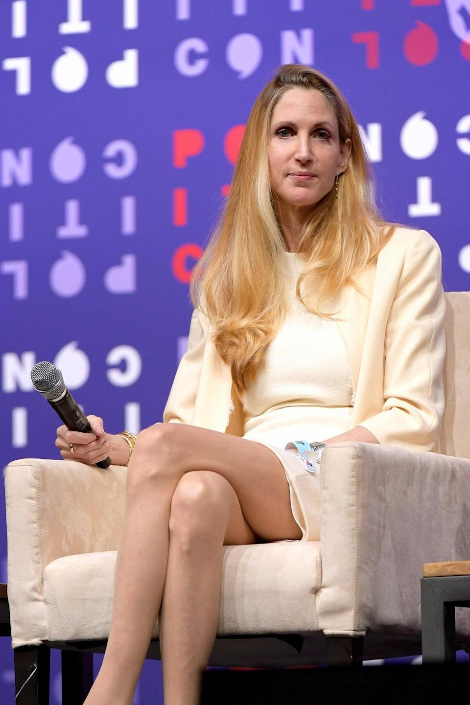 Ann Coulter speaks on stage at the 2019 Politicon at Music City Center on 26 October 2019 in Nashville, Tennessee (Jason Kempin/Getty Images for Politicon)