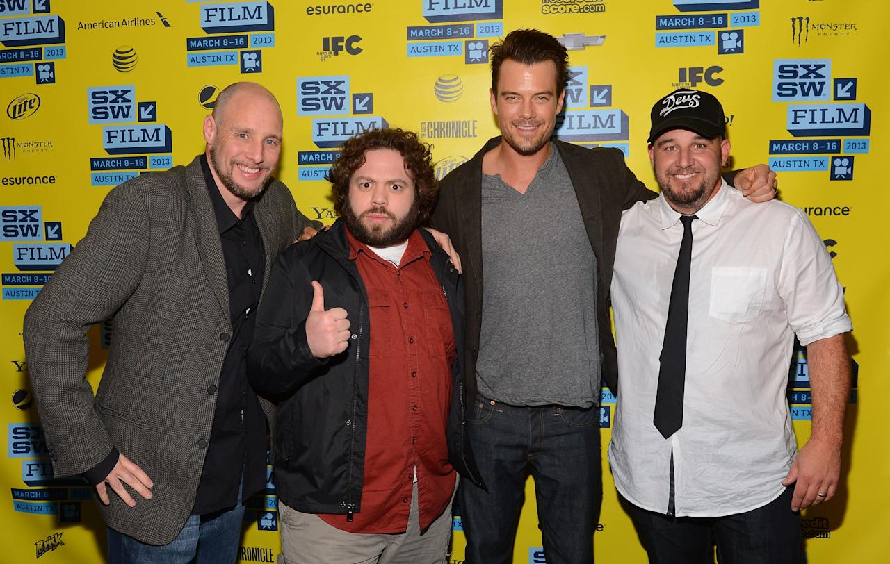 AUSTIN, TX - MARCH 08:  Director Kevin Goetz actor Dan Fogler, actor Josh Duhamel and director Michael Goetz attend the 'Scenic Route' screening at the 2013 SXSW Music, Film + Interactive Festival held at the Topfer Theatre at ZACH on March 8, 2013 in Austin, Texas.  (Photo by Mark Davis/Getty Images)