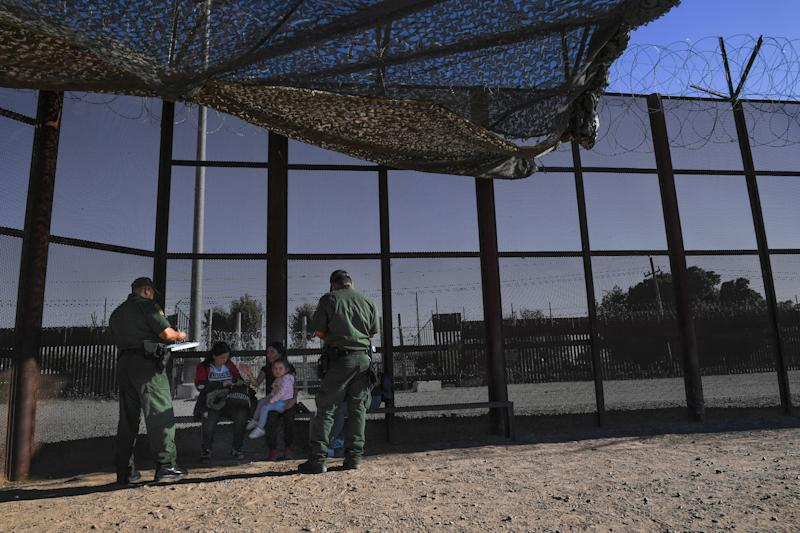U.S. Border Patrol agents in San Luis, Arizona, on June 27, 2019.