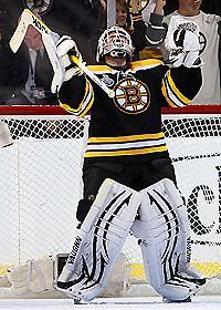 Tim Thomas took some criticism after losses in Games 1 and 2, but was stellar in stopping 40 of 41 shots in Game 3