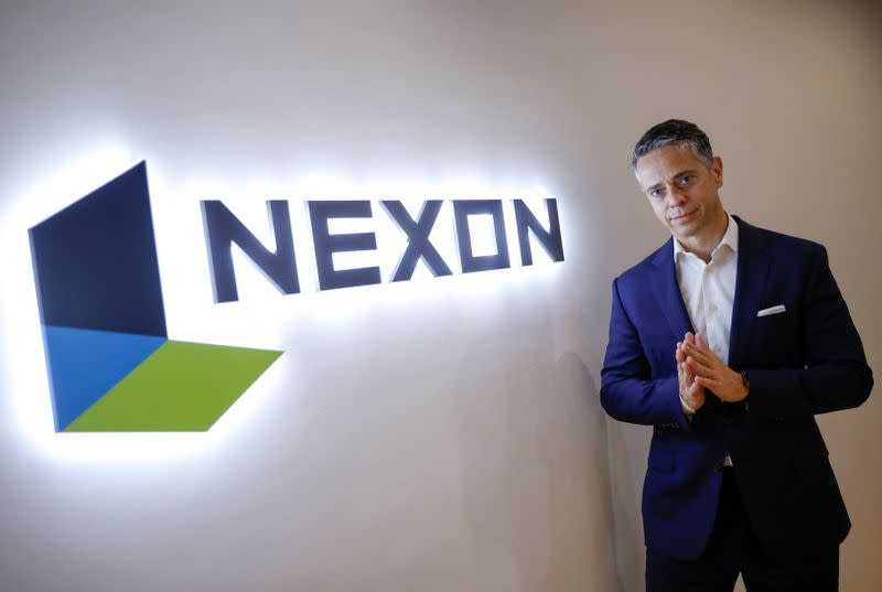 Nexon President and CEO Owen Mahoney poses for a photograph during an interview with Reuters in Tokyo