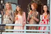 "<p>The ladies shot <em>Sex and the City 2 </em><span class=""redactor-invisible-space"">back in 2010, six years after the series went off the air. </span>Abu Dhabi authorities <a href=""http://latimesblogs.latimes.com/babylonbeyond/2010/04/sex-city-carrie-dubai-abu-dhabi-morocco-emirates-film-movie-television-new-york-sarah-jessica-parker.html"" rel=""nofollow noopener"" target=""_blank"" data-ylk=""slk:denied permission"" class=""link rapid-noclick-resp"">denied permission</a> for the crew to film in the city after reading the script, which made them move the filming location to Morocco. </p>"