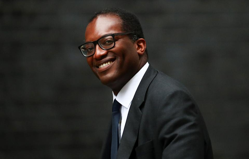 Britain's Minister of State for Business, Energy and Industrial Strategy Department Kwasi Kwarteng is seen outside Downing Street in London, Britain, September 4, 2019. REUTERS/Hannah McKay