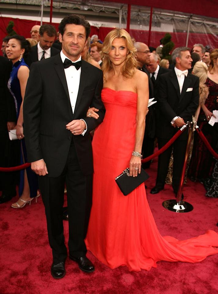 """<a href=""""http://movies.yahoo.com/movie/contributor/1800043748"""">Patrick Dempsey</a> and wife Jill attend the 80th Annual Academy Awards in Los Angeles - 02/24/2008"""