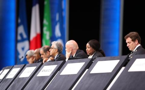 Fatma Samoura looks on during the 69th Fifa Congress at Paris this week - Credit: Getty Images