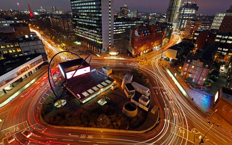 The UK's Silicon Roundabout in Shoreditch, home to many start-ups - Bloomberg News