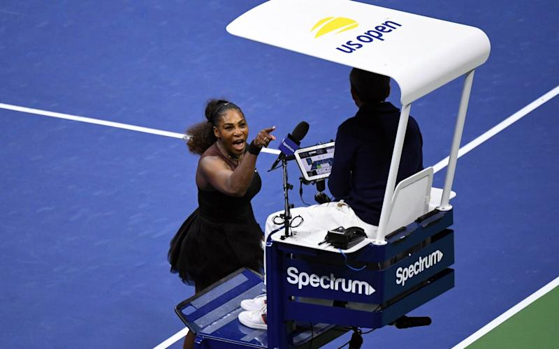 Serena Williams directed her anger at umpire Carlos Ramos during the US Open final - USA TODAY Sports