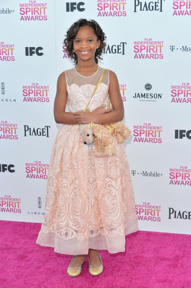 SANTA MONICA, CA - FEBRUARY 23:  Actress Quvenzhane Wallis attends the 2013 Film Independent Spirit Awards at Santa Monica Beach on February 23, 2013 in Santa Monica, California.  (Photo by Alberto E. Rodriguez/Getty Images)