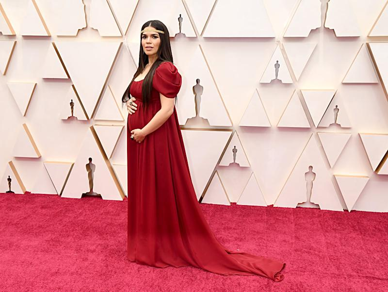 HOLLYWOOD, CALIFORNIA - FEBRUARY 09: America Ferrera attends the 92nd Annual Academy Awards at Hollywood and Highland on February 09, 2020 in Hollywood, California. (Photo by Jeff Kravitz/FilmMagic)