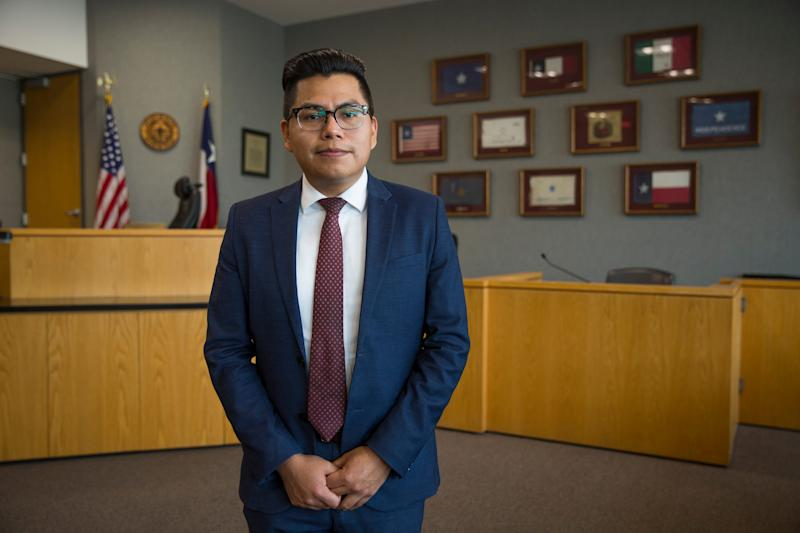 Pedro Villalobos, 28, a Travis County, Texas, assistant county attorney, is one of the DACA recipients whose future is at stake before the Supreme Court Tuesday.
