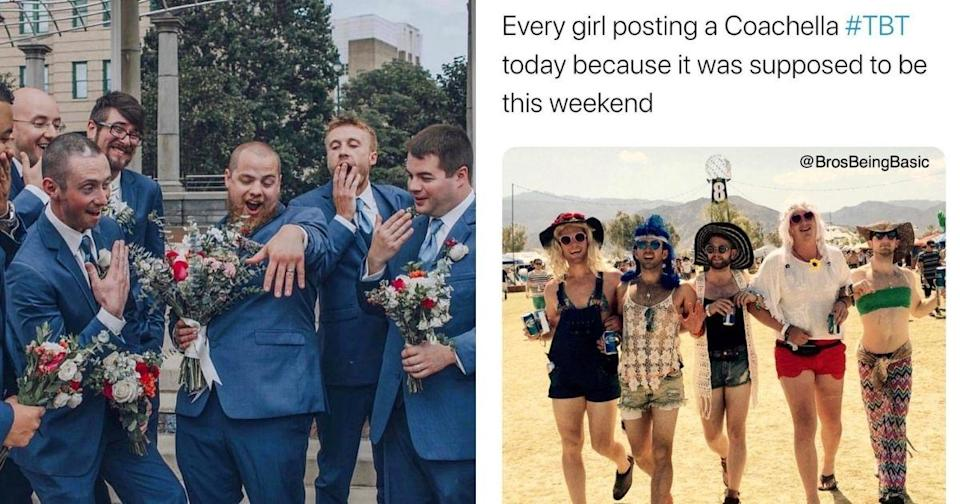 They also poked fun at engagement and marriage photos posted by social media influencers. (Photo courtesy of @brosbeingbasic/Instagram)