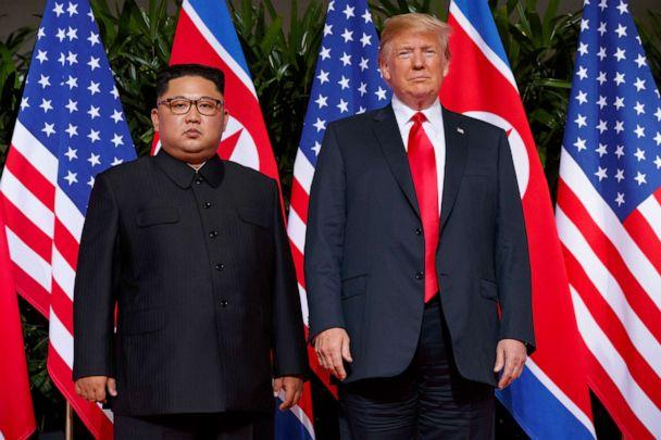 PHOTO: In this June 12, 2018, file photo, President Donald Trump meets with North Korean leader Kim Jong Un on Sentosa Island, in Singapore. (Evan Vucci/AP, FILE)