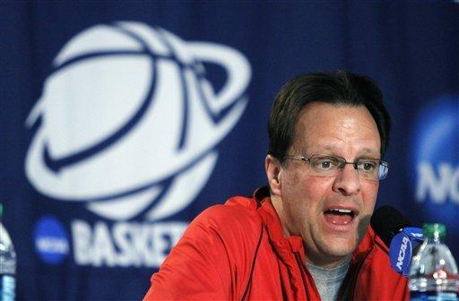 Indiana coach Tom Crean speaks during a news conference before practice in Portland, Ore., Wednesday, March 14, 2012. Indiana plays New Mexico State in an NCAA tournament second-round college basketball game on Thursday. (AP Photo/Don Ryan)