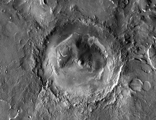 Mars' Gale Crater, the landing site of NASA's Curiosity rover