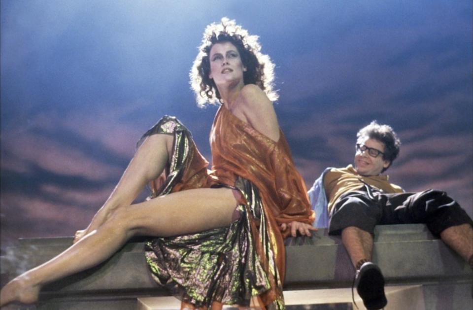 Sigourney Weaver and Rick Moranis in Ghostbusters (Credit: Columbia Pictures)