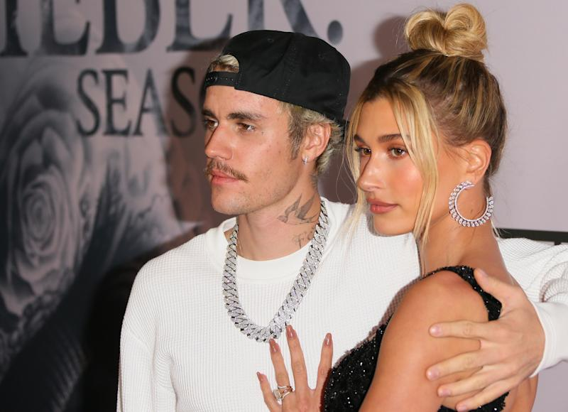 Hailey Bieber opened up about the techniques her husband uses. (Getty Images)