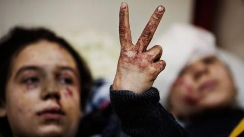 ap syria violence vicitms victory sign jt 130615 wblog Syria Crisis to Top G 8 Summit Agenda