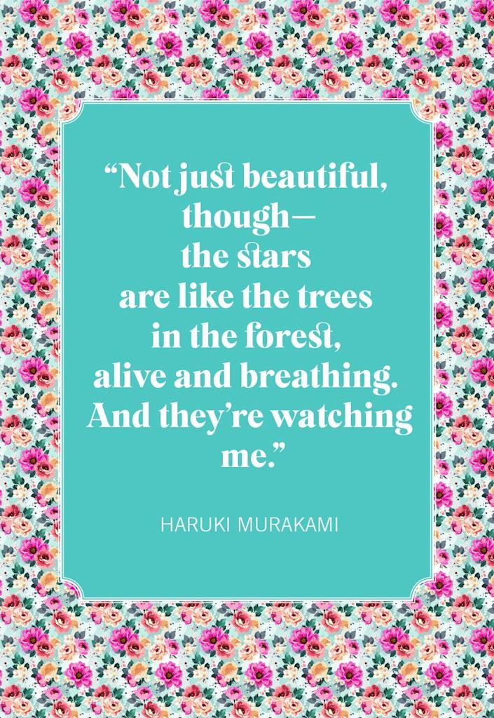 """<p>""""Not just beautiful, though—the stars are like the trees in the forest, alive and breathing. And they're watching me.""""</p>"""