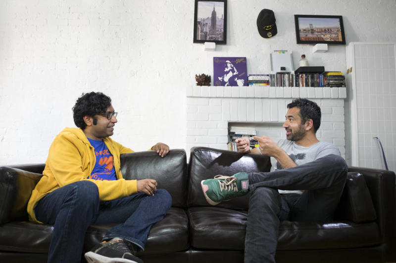 Kondabolu speaks with actor Kal Penn.  (The Problem With Apu truTV)