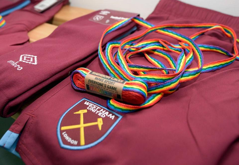 <p>Rainbow Laces will be seen in the Premier League in the coming weeks</p>Getty